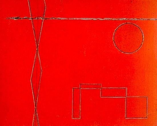 Schemi-astratti-su-fondo-rosso-(Scherzo),-1933